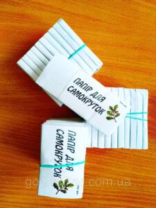 """Бумага папиросная для самокруток """"ПАПИРОСКА"""" Белоруссия фасовка 100 листов"""