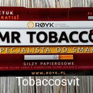 Сигаретные гильзы для Табака MR TOBACCO  20мм Фильтр 550шт. в пачке