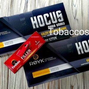 Сигаретные гильзы Hocus 500+500шт.+ Машинка для набивки