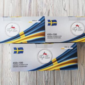 Шведские сигаретные гильзы 1650 гильз.Хай Стар