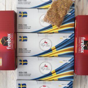 Набор сигаретных гильз 3200 гильз.Швеция, Польша