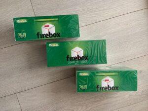 Гильзы для сигарет Firebox Menthol / Гільзи ментолові 250 шт